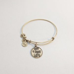 "Alex and Ani Gold ""Live A Happy Life"" Bracelet"